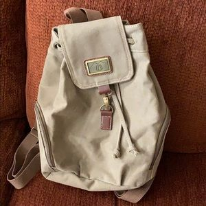 Olive green canvas backpack. New!